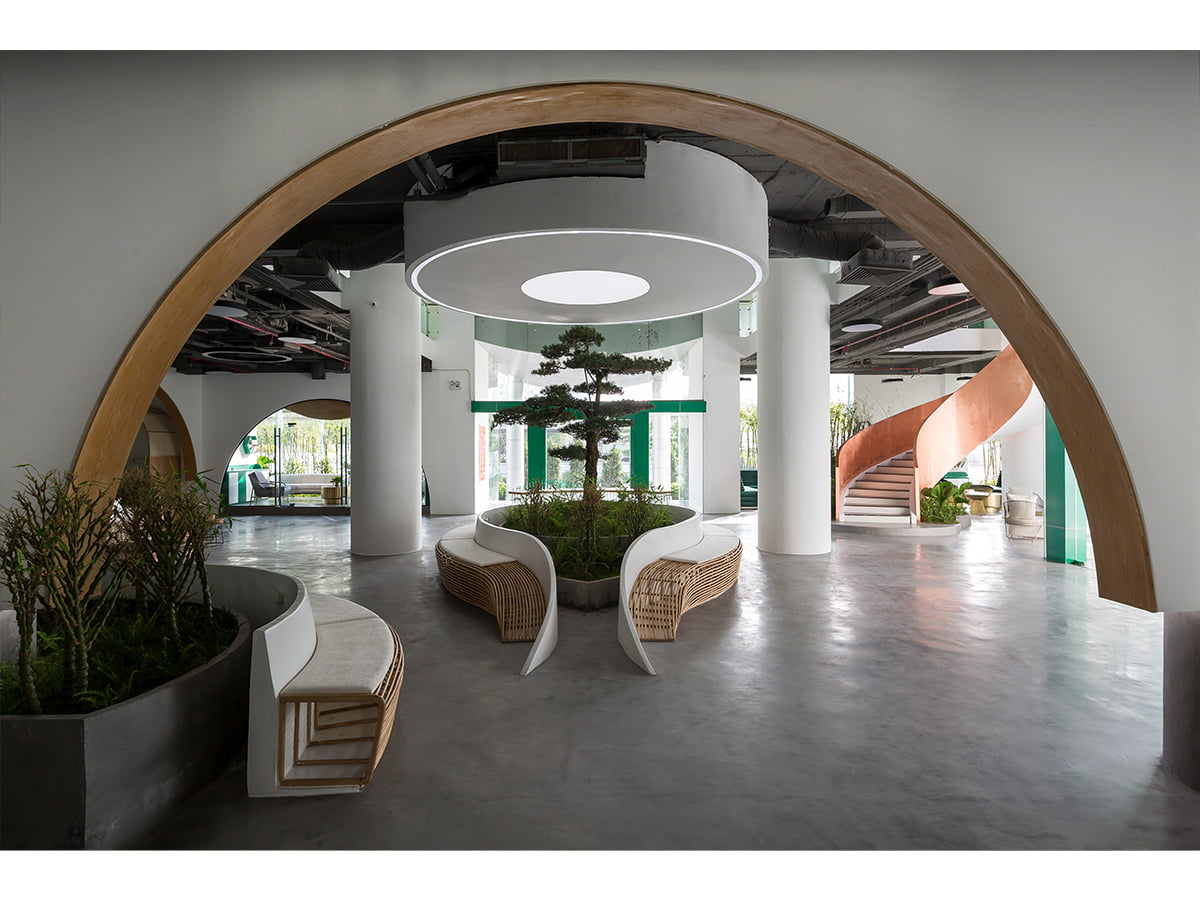 Happynest-Những kết nối không gian ấn tượng trên diện tích 670m2 của Văn phòng nội thất Giao hàng tiết kiệm